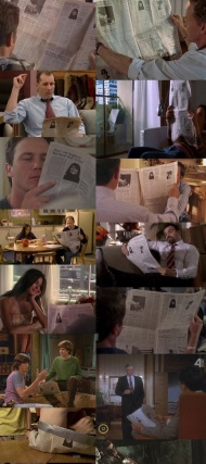 The same newspaper in tv shows.