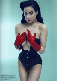 Dita Von Teese photographed by Anja Paulson for Bwatt