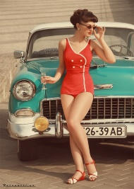 retro girls are the prettiest :)