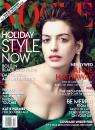 Anne Hathaway on Vogue's December Cover