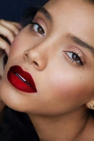 Red lips...