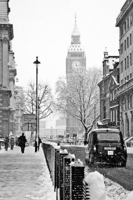 Deep winter in London.