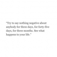 make your lives less negative
