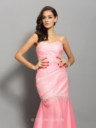 Trumpet/Mermaid Sweetheart Sleeveless Elastic Woven Satin Applique Beading Short/Mini Dresses