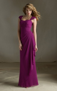 kissybridesmaid's purple long birdesmaid dress
