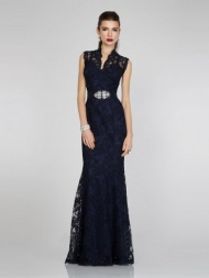 Stunning Trumpet/Mermaid Halter Floor-Length Lace Evening Dress
