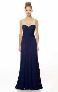 Pleated V-Neck Chiffon Bridesmaid Dress supplied by VioletDress at £88.99  are the best choice for you