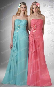 A-line New Arrivals Asymmetrical Long Bridesmaid Dress supplied by VioletDress at £73.99  are the best choice for you