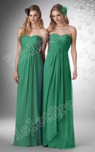 A-line Strapless Green Long Bridesmaid Dress supplied by VioletDress at £63.99  are the best choice for you.