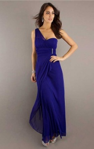 Column One-Shoulder Floor-Length Royal Chiffon Bridesmaid Dresses supplied by VioletDress at GBP77.99 are the best choice for you.