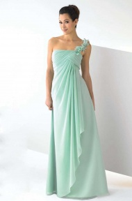 Chic Sheath/Column Floor-length One Shoulder Chiffon Long Dress supplied by VioletDress at GBP77.99 are the best choice for you.