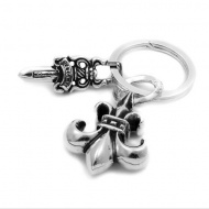 Chrome Hearts Key Ring BS Fleur Dagger sterling silver