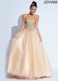 2014 Nude Strapless Sequins Top Jovani 896561 Ball Gown
