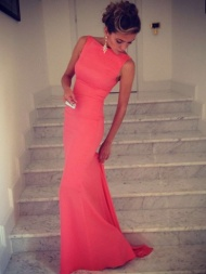 Gorgeous Trumpet/Mermaid High Neck Sleeveless Spandex Floor-Length Prom Dress